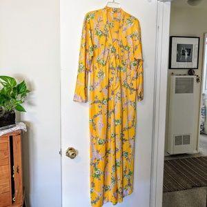 Vintage Yellow Long Dress/Robe